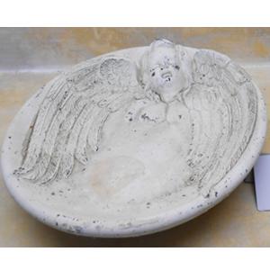 Plato con diseño de Angel blanco de 25x25x5cm