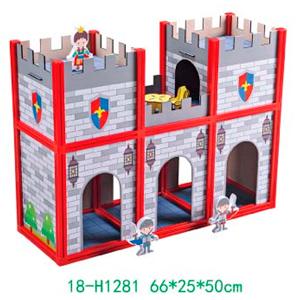 Castillo armable con accesorios para niños de 66x25x50cm