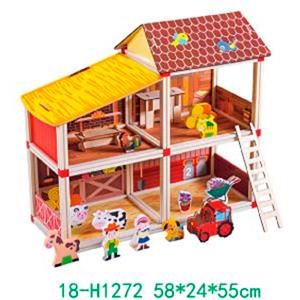 Granja armable con accesorios para niños de 58x24x55cm