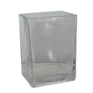 Florero  de cristal  10 x 8 x 14 cm