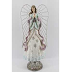 Figura de Angel con luz led (usa baterias AA) de 27x19x53cm