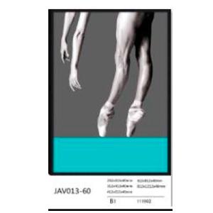 Cuadro diseño bailarina blanco y negro de 40x60x4cm