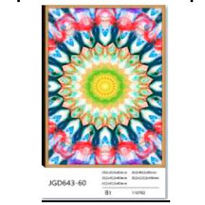 Cuadro diseño patrón de colores amarillos de 80x120x4 cm