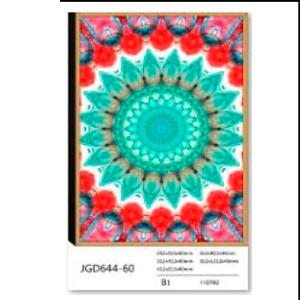 Cuadro diseño patrón de colores verdes de 80x120x4 cm