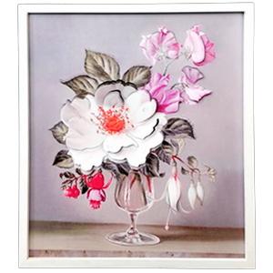 Cuadro diseño Flor en copa de 40x48x2cm