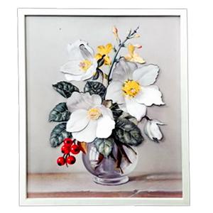 Cuadro diseño Flores en jarrón de 40x48x2cm