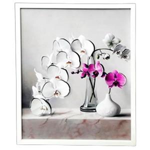 Cuadro diseño Orquídeas en floreros de 40x48x2cm