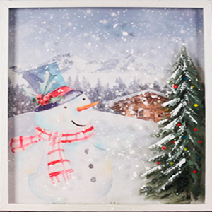 Cuadro diseño Muñeco de nieve de 40x60x3cm