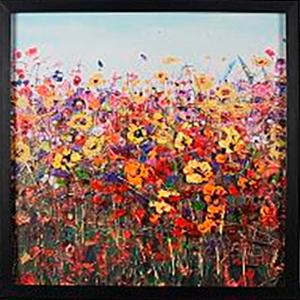 Cuadro diseño Campo de flores de 60x60x2cm