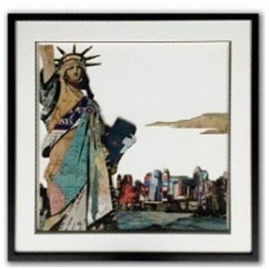 Cuadro diseño Estatua de la Libertad de 65x65x3cm