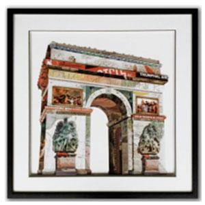 Cuadro diseño Arco del Triunfo de 65x65x3cm
