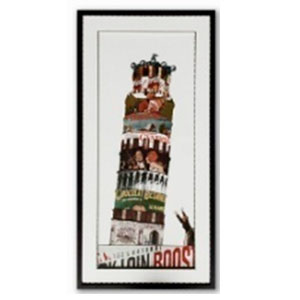 Cuadro diseño Torre de Pizza de 50x100x3cm