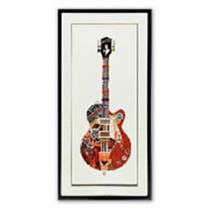 Cuadro diseño Guitarra roja de 50x100x3cm
