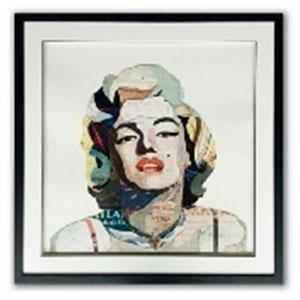 Cuadro diseño Marilyn de 75x75x3.8cm
