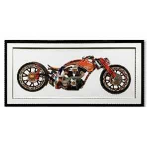 Cuadro diseño Motocicleta Roja de 130x65x3.8cm