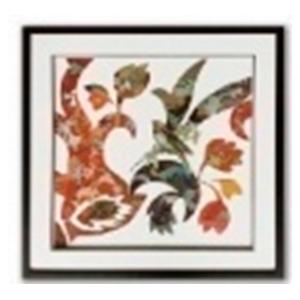 Cuadro diseño aves y flores de 65x65x3cm