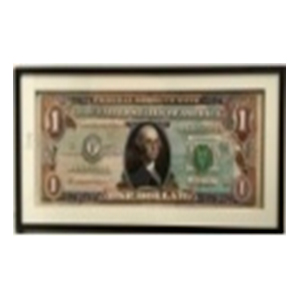 Cuadro con diseño Billete de Dólar de 50x100x3cm