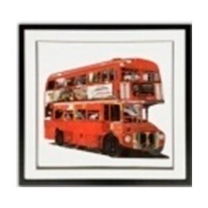 Cuadro diseño Autobús de Londres de 75x75x3.8cm