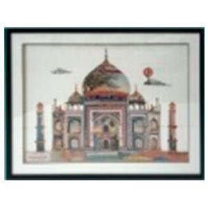 Cuadro diseño Taj Mahal de 72x90x3.8cm