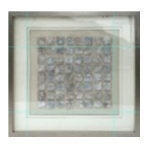 Cuadro con diferentes tamaños de plata de 50x50x3cm