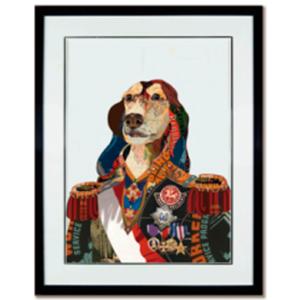 Cuadro diseño Perro con Traje de 72x90x4cm