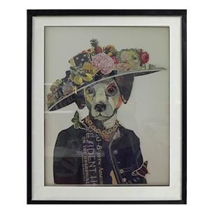 Cuadro diseño Perro con Vestido de 72x90x4cm