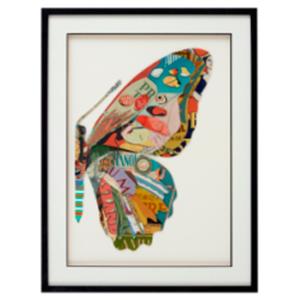 Cuadro diseño Mitad de Mariposa lado derecho de 60x80x3cm
