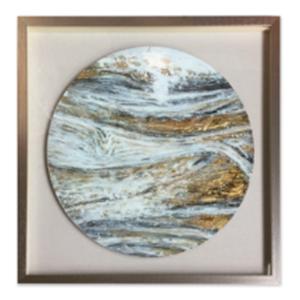 Cuadro diseño Circulo tipo mármol de 75x75x4.5cm