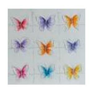 Cuadro diseño Mariposas de colores de 80x80x3cm