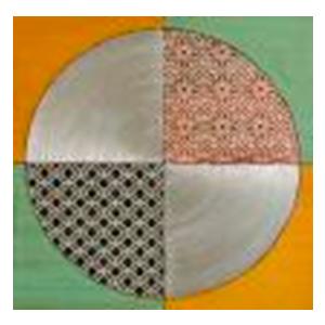 Cuadro diseño circulo con triángulos de colores de 80x80x3cm