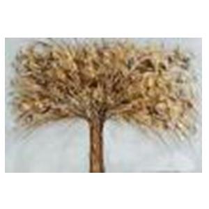 Cuadro diseño árbol con hojas doradas de 60x90x3cm