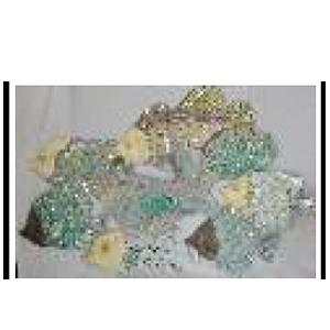 Decoración de pared diseño pescados con incrustaciones de espejos de 120x1.5x76cm