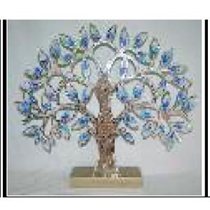 Árbol con incrustaciones de espejos de 65x10x57cm