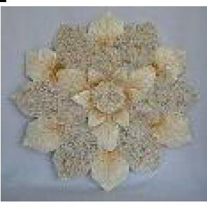 Decoración de pared diseño flor con incrustación de conchas de 80x5x80cm