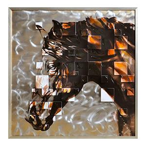 Cuadro cabeza de caballo en 3D de 105x105cm