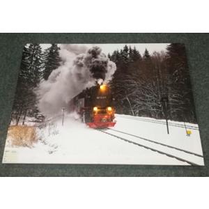 Cuadro diseño Tren en paisaje nevado (usa baterias doble AA) de 40x60cm