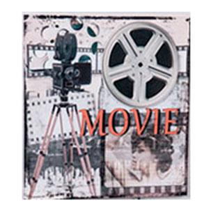 Cuadro con diseño Cintas de Cine de 40x40x3cm