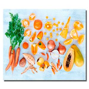 Cuadro diseño Frutas y Vegetales amarillos y naranjas de 30x40x1.5cm