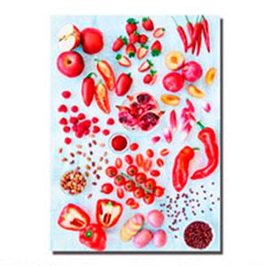 Cuadro diseño Frutas y Vegetales Rojos de 30x40x1.5cm