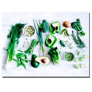 Cuadro diseño Vegetales Verdes de 30x40x1.5cm