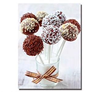 Cuadro diseño Vaso de Leche con Paletas de Chocolate de 30x40x1.5cm