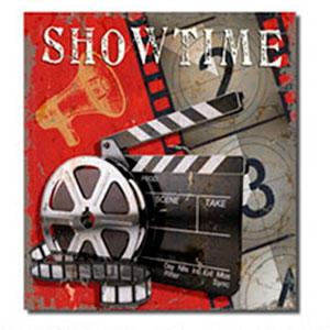 Cuadro diseño Cinta de Cine y Claqueta de 40x40x1.5cm