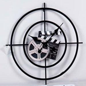 Reloj de pared diseño Cinta y Claqueta de Cine de 59.5x59.5x4.5cm