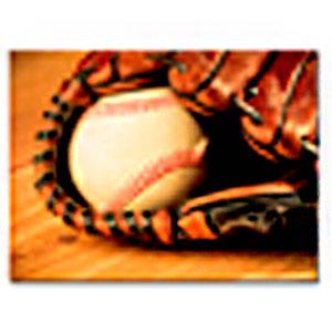 Cuadro diseño de Guante y Pelota de Baseball de 30x40x1.5cm