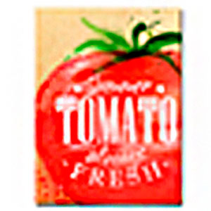 Cuadro diseño anuncio de Tomate de 30x40x1.5cm