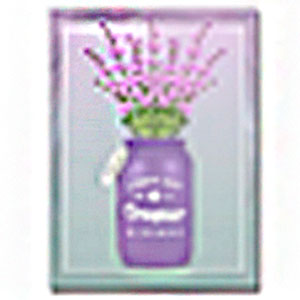 Cuadro diseño florero morado y Flores de Lavanda de 30x40x1.5cm