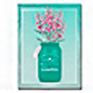 Cuadro diseño florero verde y Flores de Rosas de 30x40x1.5cm
