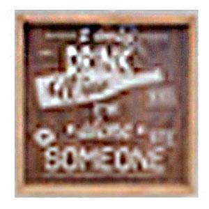 Cuadro de madera diseño Letrero de Leche de 25x25x5.5cm