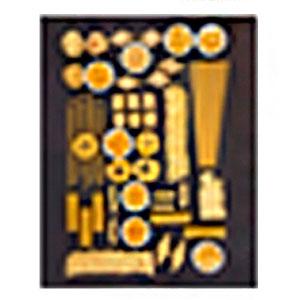 Cuadro con diseño de Diferentes tipos de Pastas de 40x50x1.8cm