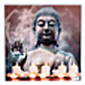 Cuadro diseño Buda con velas y Luz Led de 50x50x1.8cm